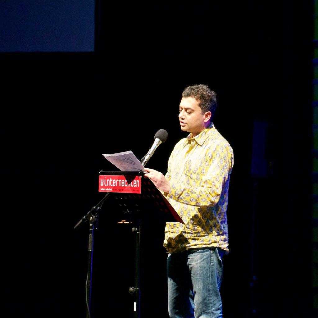 Neel Mukherjee sprak over de grenzen van empathie. ©Marc Brester/AQM