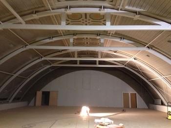 bouw gymzaal bovenin