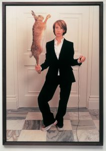 Sam Taylor-Wood, Self-portrait with dead hare, 2001.