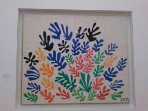 De schoof van Henri Matisse, 1953. Gouache o ppapier, uitgeknipt en opgeplakt op papier. 294x350 cm. Collectie University of California, Los Angeles.