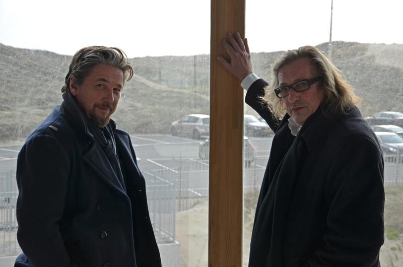 Johan Doesburg (rechts) en Dries Vanhegen (foto auteur)