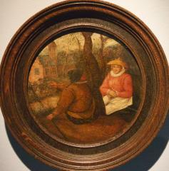 Het ronde schilderijtje van Pieter Brueghel de Jongere