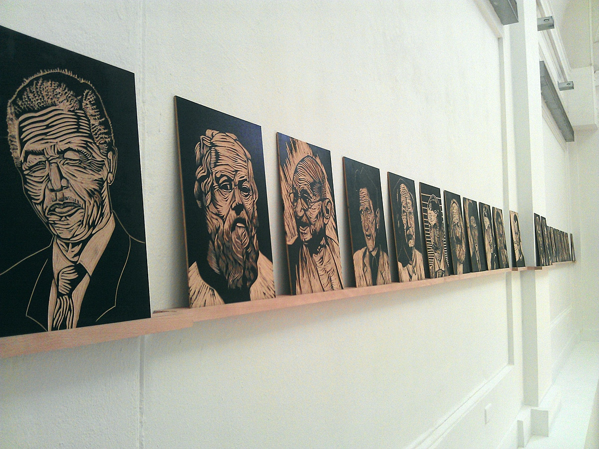 Tholbjorn, Idealists (houtsnede). Foto auteur.