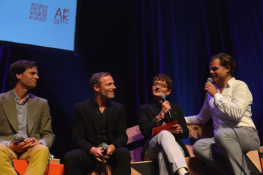 v.l.n.r. Merlijn Twaalfhoven, Jakop Ahlbom, Andrea van der Poll en Renzo Martens