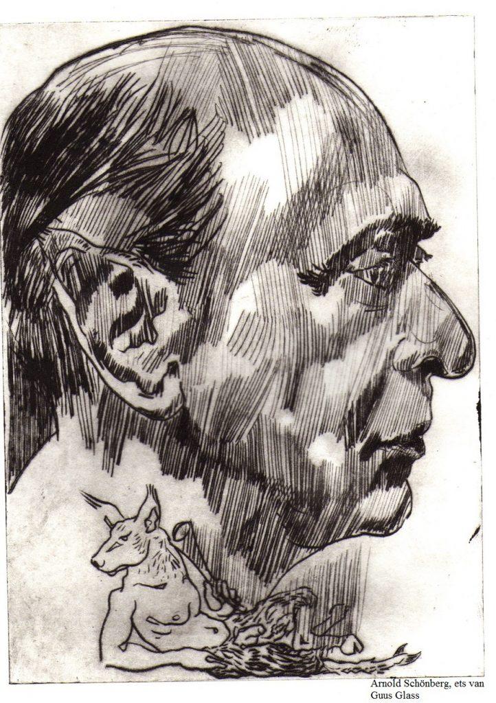 Arnold Schönberg, ets van Guus Glass