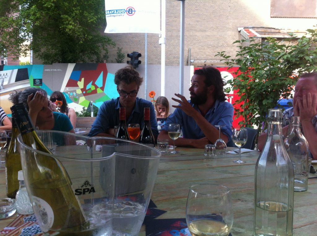 Bart Hollanders en Thomas Verstraeten van FC Bergman. Festival Boulevard 2015
