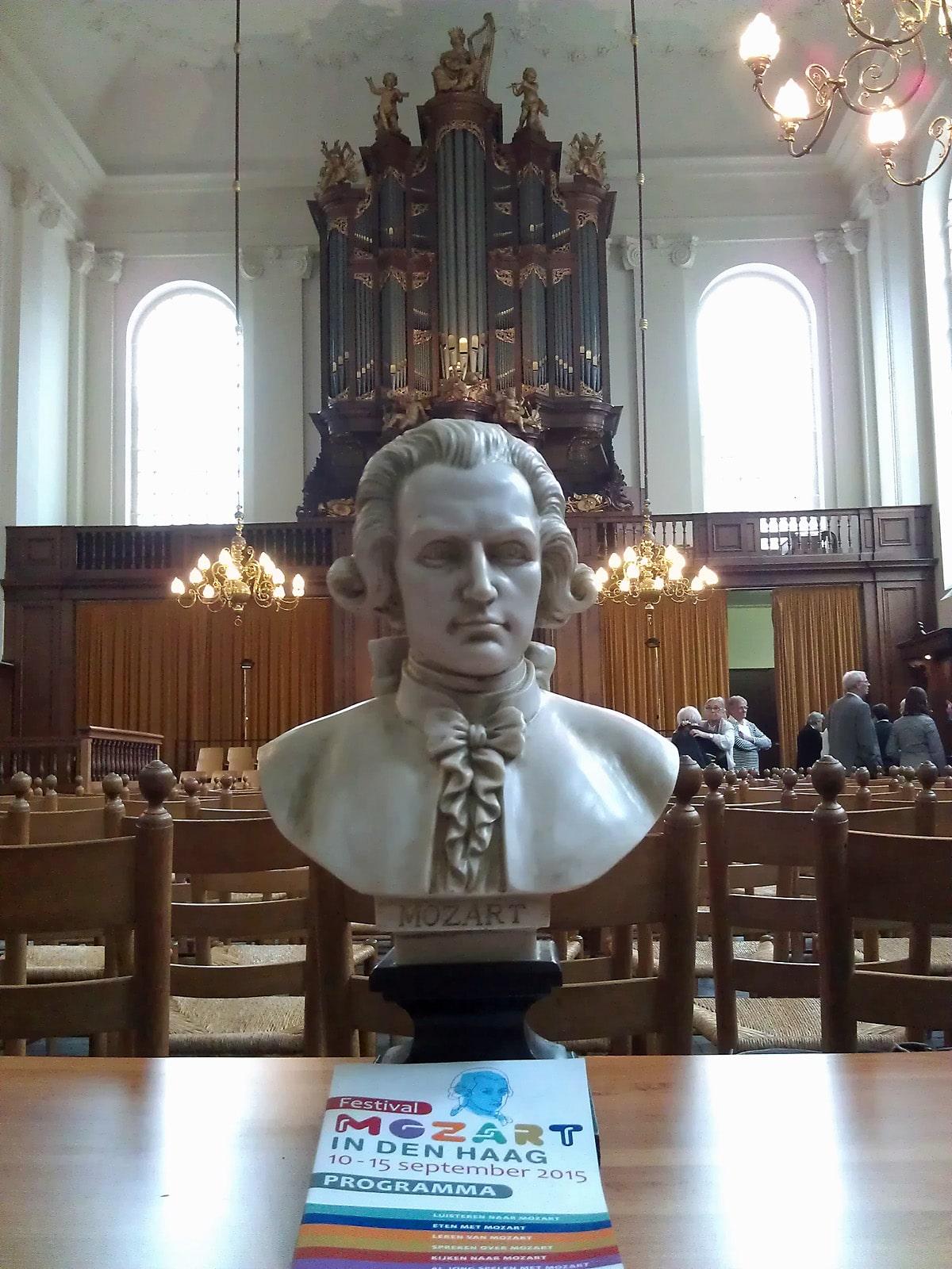 Mozart in de Lutherse Kerk (foto auteur)