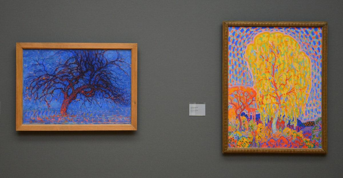 Bomen van Mondriaan en Sluijters (foto auteur)