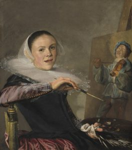 Judith Leyster, Zelfportret achter ezel, ca. 1640. National Gallery of Washington