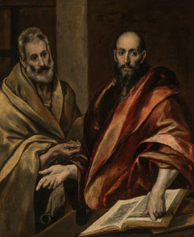 ''De apostelen Petrus en Paulus'' uit 1587–92 van El Greco (Doménikos Theotokópoulos, 1541–1614). © State Hermitage Museum, St Petersburg.