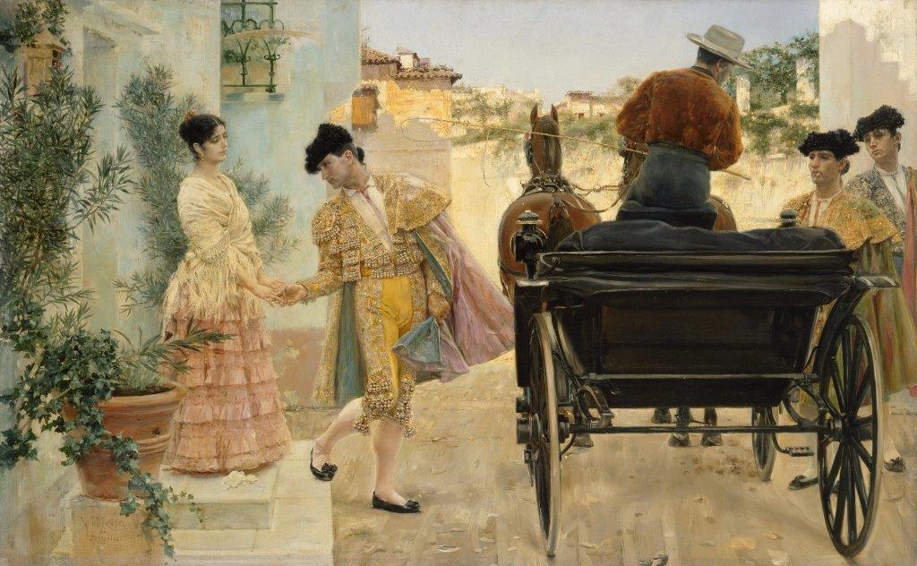 ''Het afscheid van de torero'', 1880 ''Het afscheid van de torero'', 1880, van José Villegas Cordero (1844–1921). © State Hermitage Museum, St Petersburg.