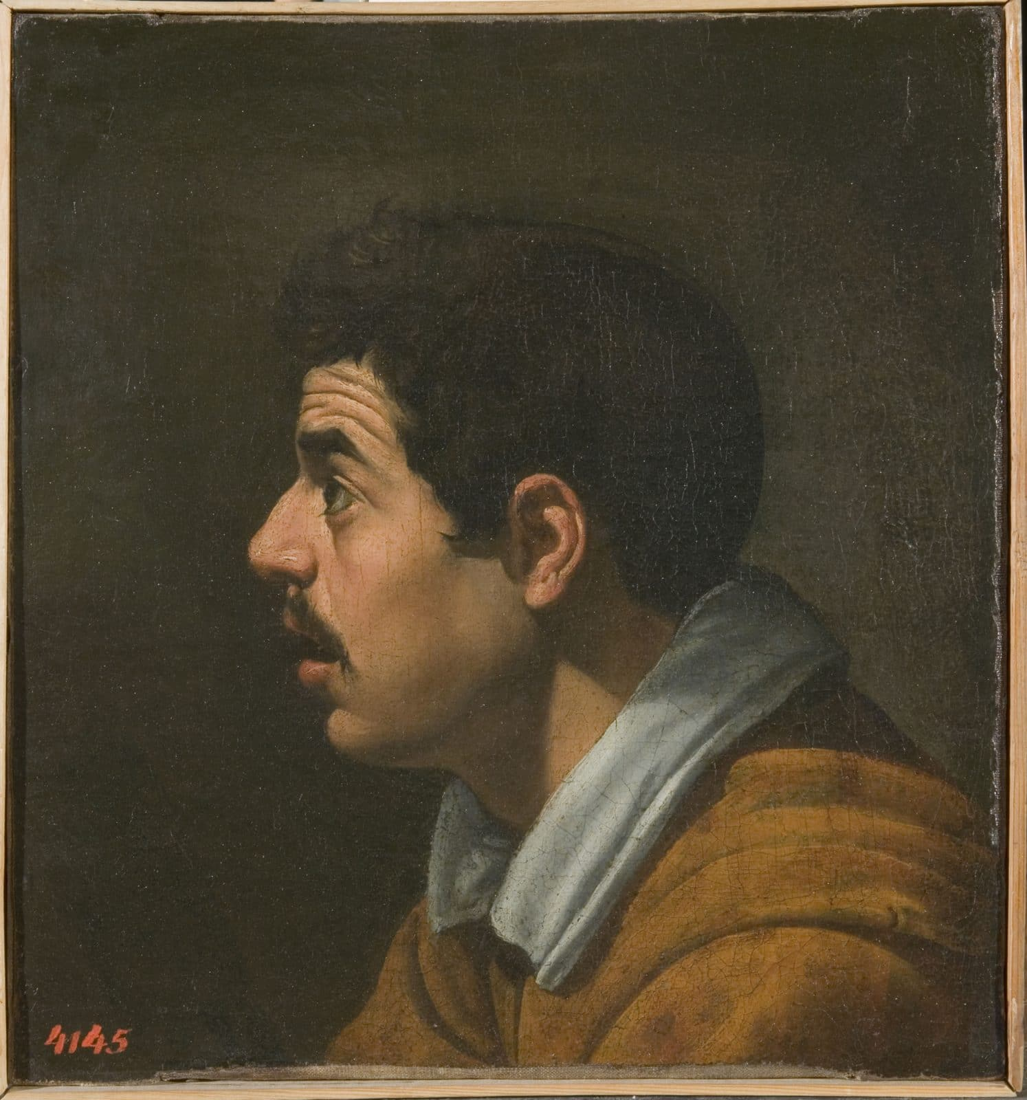 ''Hoofd van een man in profiel'', ca. 1616 (voorzijde) van Diego Velázquez de Silva (1599–1660). © State Hermitage Museum, St Petersburg.