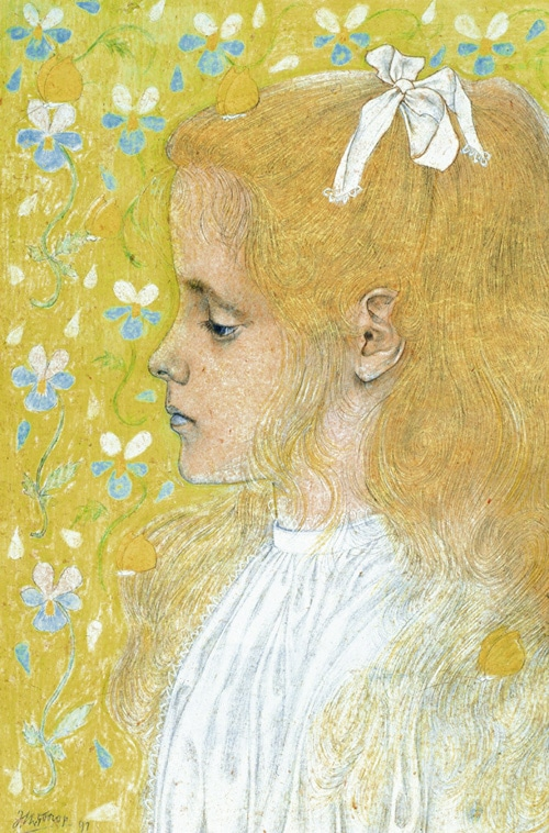 Portret van dochter Charley