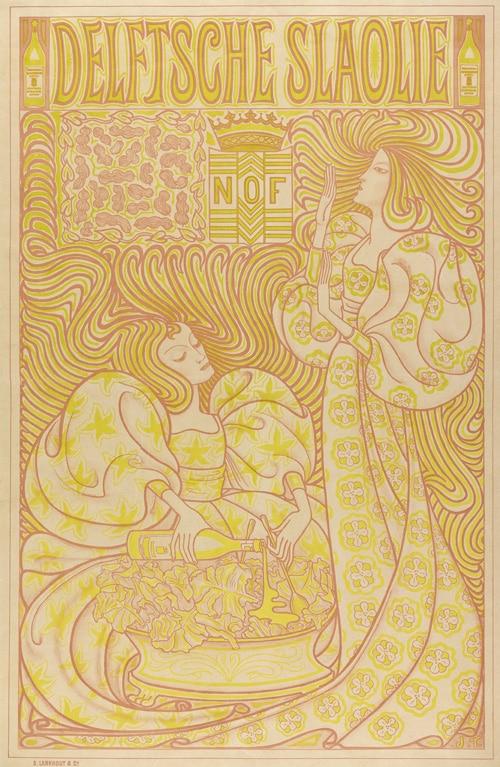 Jan Toorop (ontwerp), Delftsche Slaolie, 1895 Affiche, kleurenlithografie, 86,5 x 56 cm Collectie Gemeentemuseum Den Haag