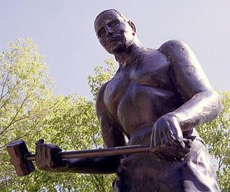 John Henry beeld in Talcott (fotocredit wikimedia)