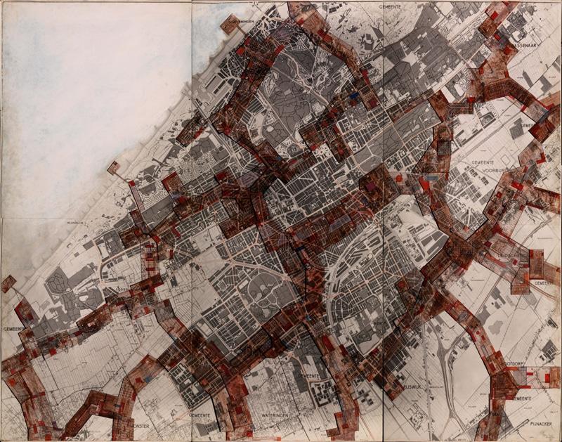 New Babylon – Den Haag, 1964, waterverf op papier op spaanplaat, 220,2 x 286,7 cm. Gemeentemuseum Den Haag, Foto: Tom Haartsen. ©Constant / Fondation Constant c/o Pictoright Amsterdam 2016
