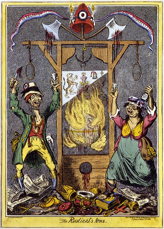Britse spotprent over De Terreur (1792)