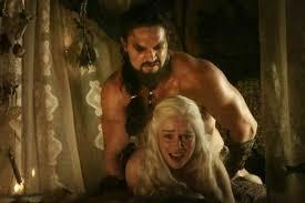 Daenerys Targaryen en Khal Drogo