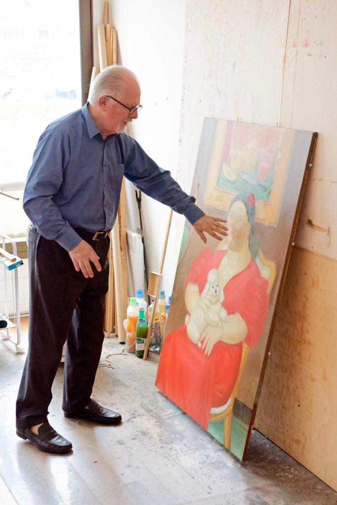 Botero: 'Ik krijg dit schilderij maar niet goed.' ©Marc Brester/AQM