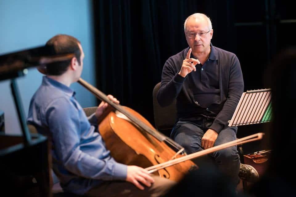 Masterclass Antonio Meneses, bron: Cello Biënnale