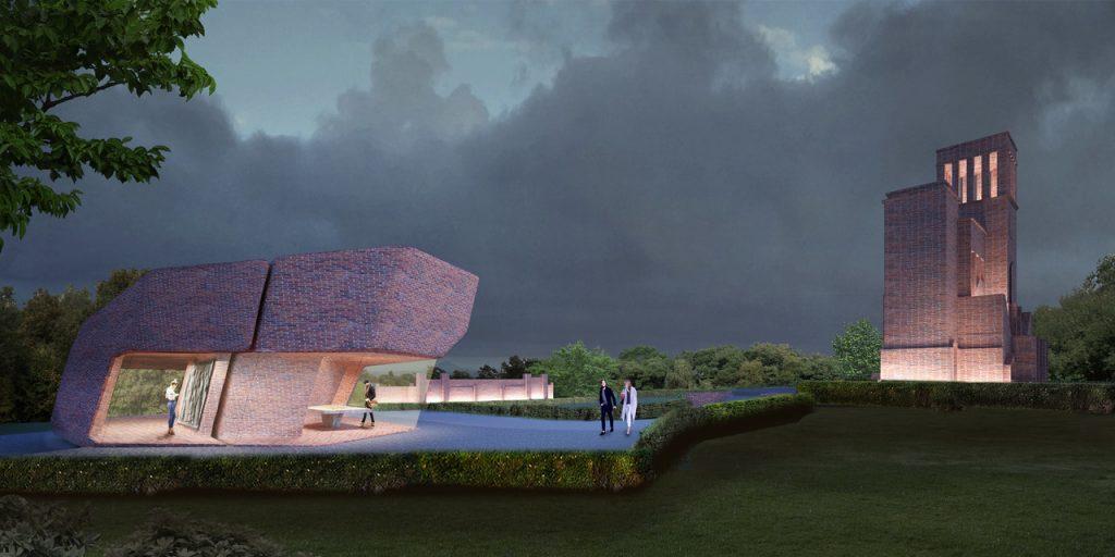 Artist's impression van 'Museum voor gastvrijheid'. Matthijs la Roi.