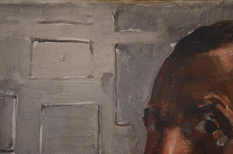 Piet Mondriaan, Zelfportret (detail), 1918. Foto auteur