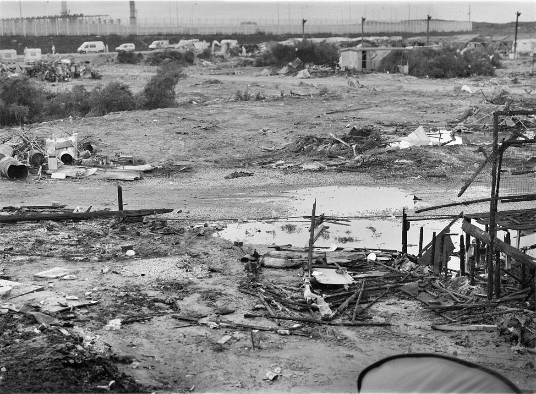 """View of the remains of the migrant camp Calais"" 2016 foto Artur-Żmijewski"