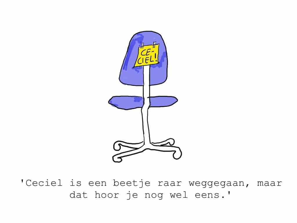 De bureaustoel van Ceciel