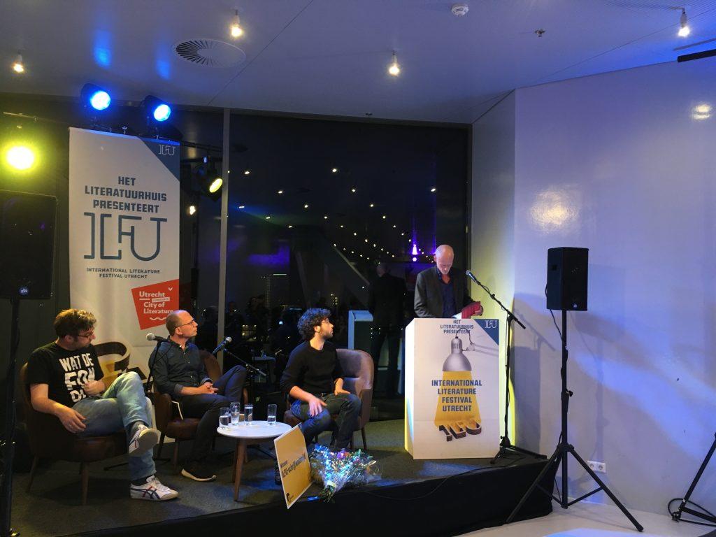 Jelte Nieuwenhuis, Jasper Henderson, Frank Heinen en winnaar Gert-Jan van den Bemd