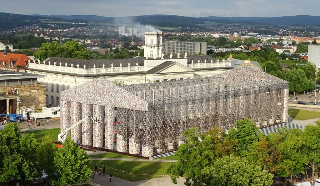 Marta-Minujin-Parthenon-of-Books-Friedrichtsplatz-Kassel-2017-documenta-14