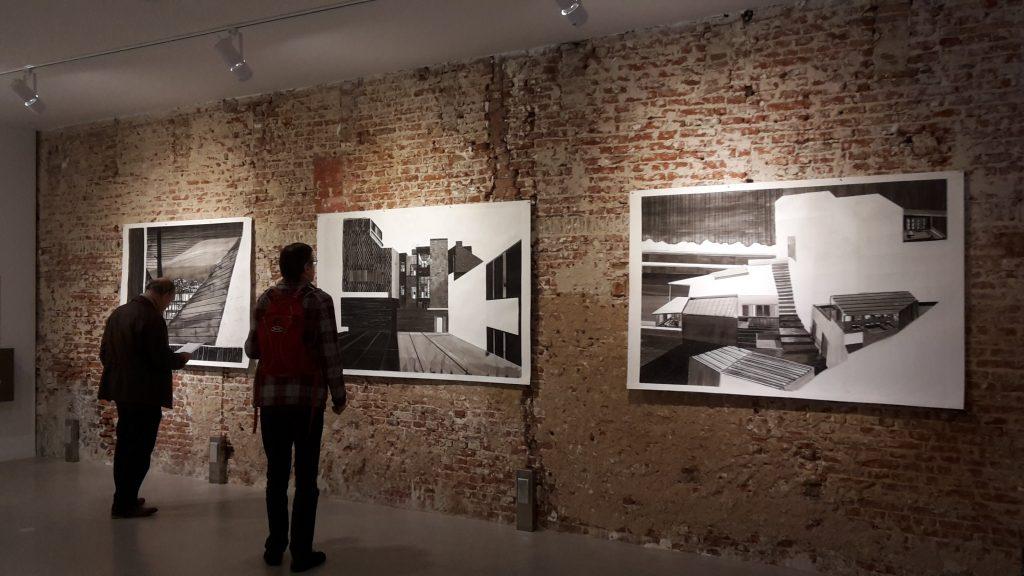 Werk van Mirjam Hagoort aan de muur van KUUB