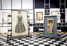 Edith en Judith na aankomst. Zo hangen ze in de tentoonstelling dus niet! Foto Gemeentemuseum Den Haag