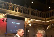 vvd'er Jeroen Hatenboer tijdens paradisodebat