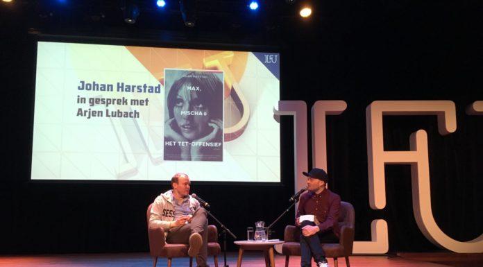 Johan Harstad (l) en Arjen Lubach