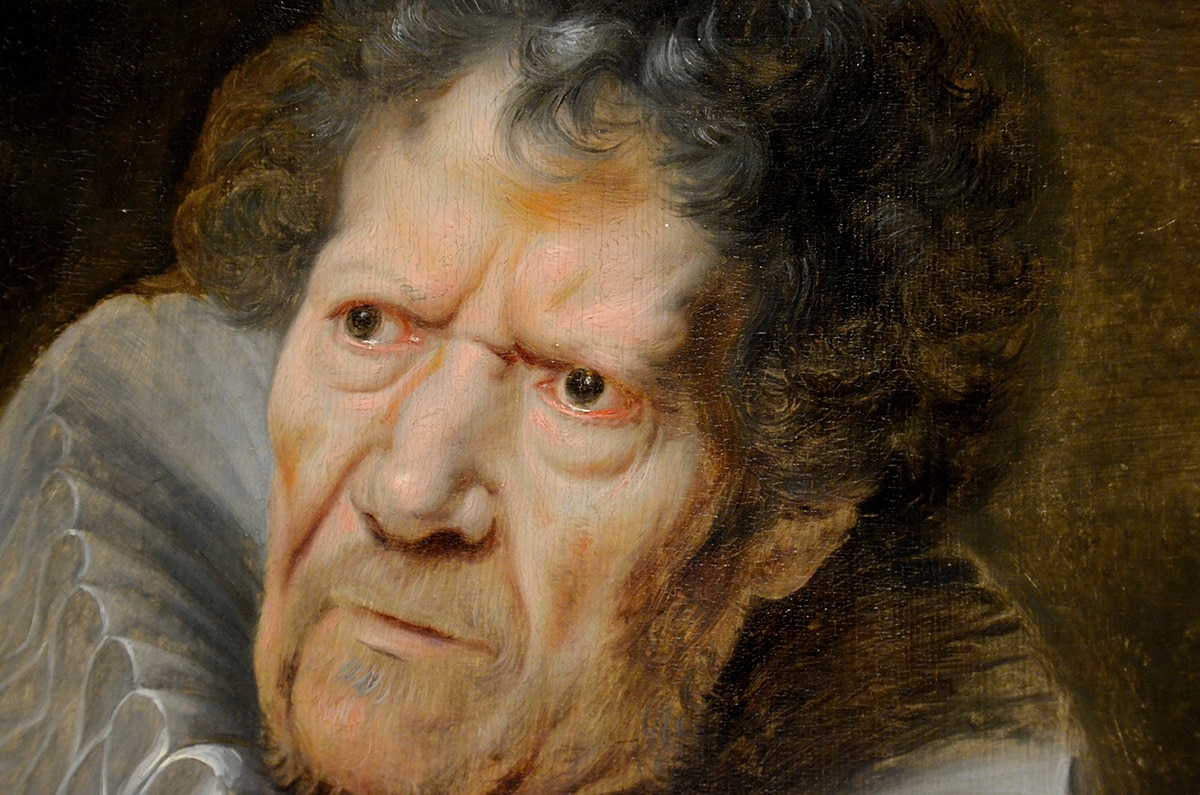 Cornelis de Vos, portret van Abraham Grapheus (detail, foto auteur)