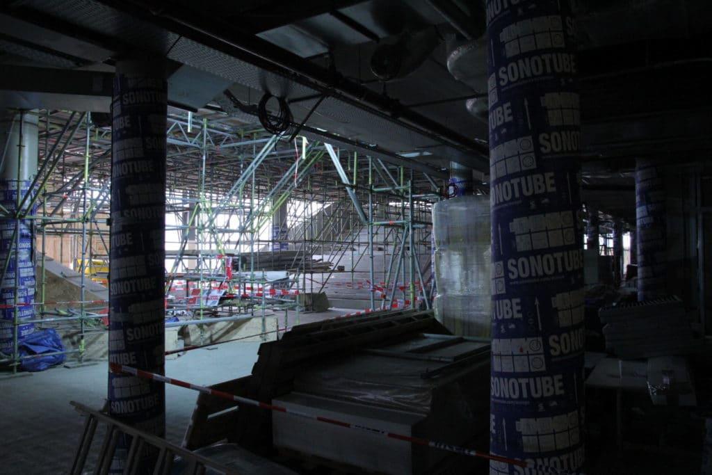 TivoliVredenburg tijdens de bouw. Foto: Wijbrand Schaap