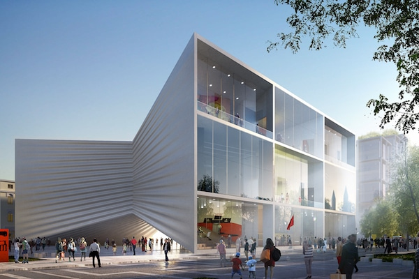 Tirana theater Image by BIG-Bjarke Ingels Group